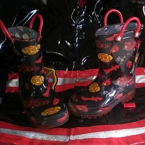 Other - Lilly of New York Toddler Firetruck Rainboots